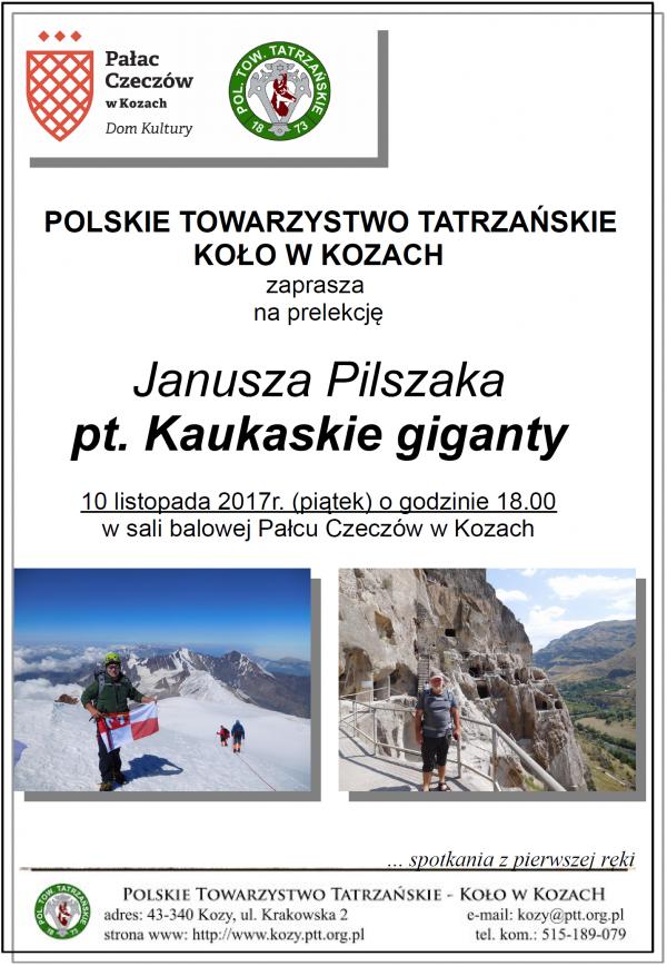 Kaukaskie giganty prelekcja Janusza Pilszaka